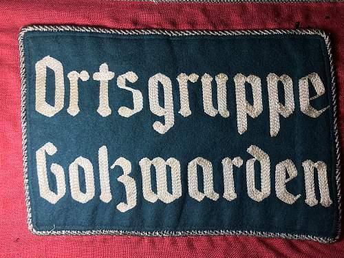 NSDAP and War flag