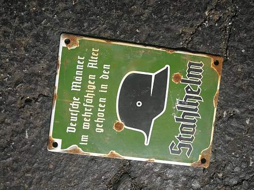 Collection of enamel signs