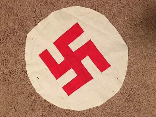 Red Swastika Flag Center?