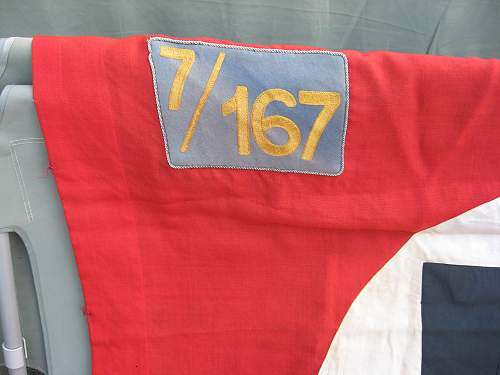 Nazi party flag with  unit patch,,,need id