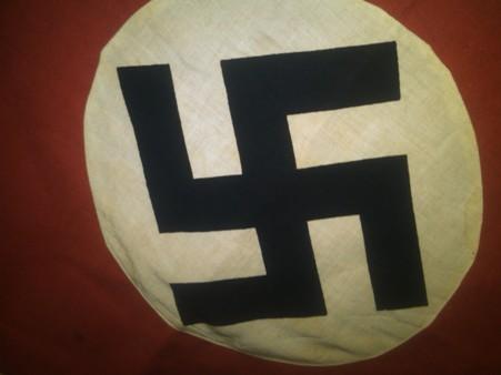 Unusual shape Nazi banner & a Podium Flag