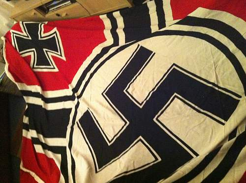 Huge Reichskreigsfahne