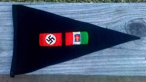 German/Italian pennant cut from strand!
