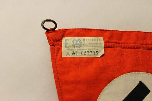 NSDAP Pennant with RZM tag!