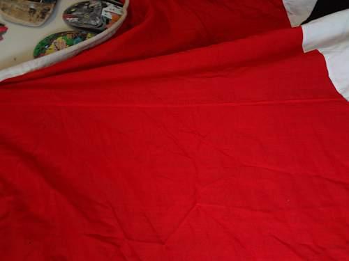 WW2 German 15ft by 15ft NSDAP flag banner