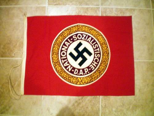 Unusual Nazi Party Flag