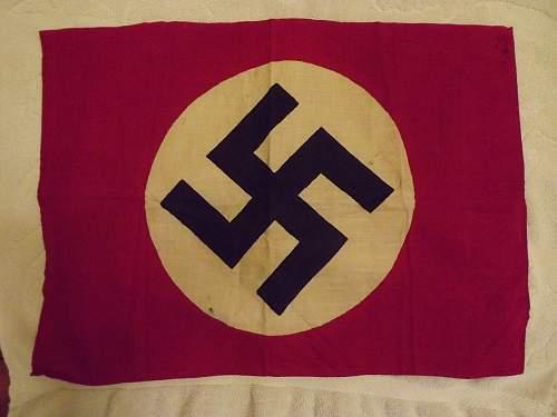 "Small Nazi Flag 20.5"" x 15"""