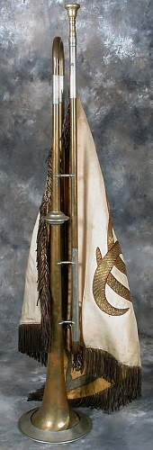 trumpet banner and fanfare trumpet