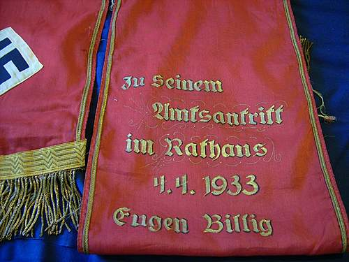 Pennant and Sash or banner
