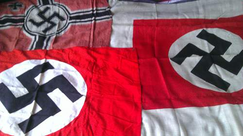x3 Flags, inc. Party Flag & x2 Kriegsmarine Related Flags
