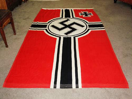 Reichskriegsflag: this was said to be a real flag ...