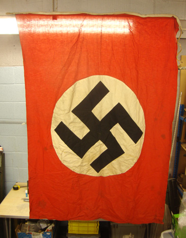 German Nazi Party, Double Sided Flag With Rope Cord. Opinions before purchase please..