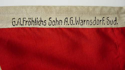 Click image for larger version.  Name:Reich Kreigs Flag makers markings..JPG Views:126 Size:157.0 KB ID:49436