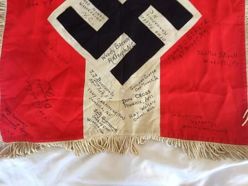 HJ Fanfare flag with GI markings