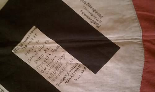 Large Flag Vet bringback and signed!!!!