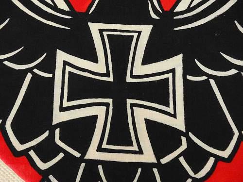 very rare NS-RBK Reichsbund der Korperbehinderten Flag