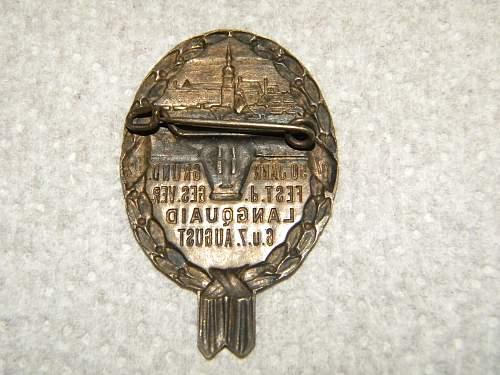 Nazi flag and badge