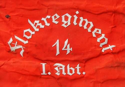 Flak Schellenbaum Flagge, 14th Flak regt.  I Abt.