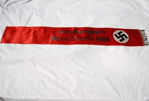 Click image for larger version.  Name:AH Bust & NSDAP Sash 019 (2).JPG Views:30 Size:102.7 KB ID:589317