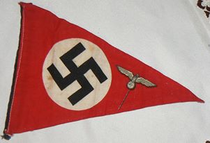 Nazi pennant flag One sided