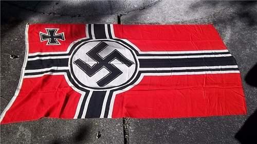 Smaller Kriegs Flag - No maker?