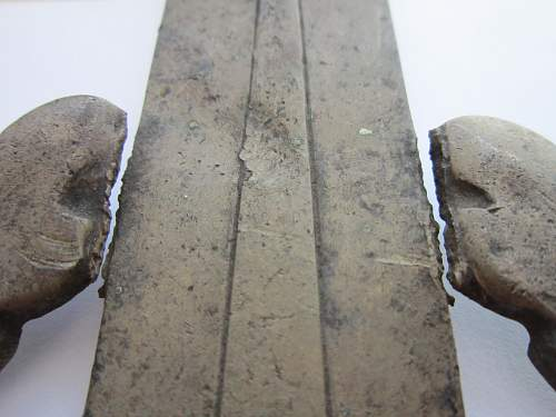 Relic NSKOV Pole top with inscriptions.