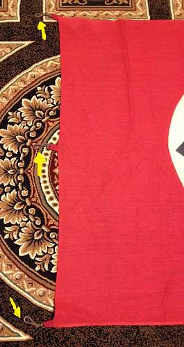 3rd Reich Banner  (Three Hanging Clips)