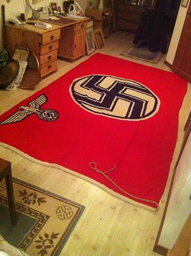 My new  State Service Flag with Kriegsmarine marking