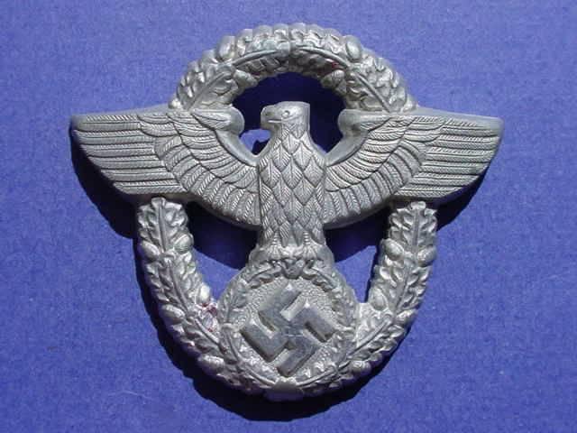 Wwii German Police Cap Pin Original Cap Pin And Arm Patch