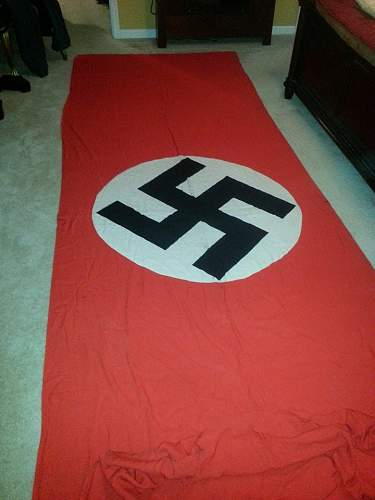 Huge Nazi banner