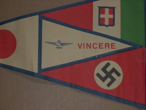 HELD I.D. o f PAPER PENNANT..SWEDISH(?)/JAP/NAZI...