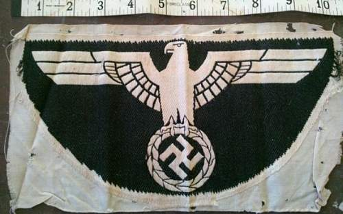 Nazi banner ? Not sure what this is ?