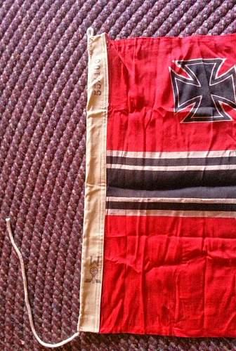 Kriegsmarine flag......original?