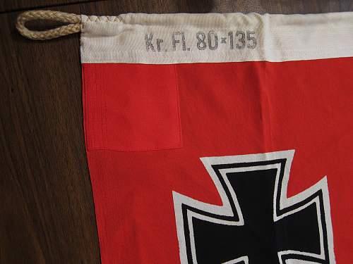 Reichskriegsflagge (war flag)  -80 x 135 :  Lorenz Summa Sohne Oberkotzau