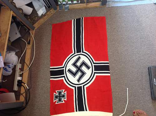 Three items...Kriegsflagge, pennant, and large banner.