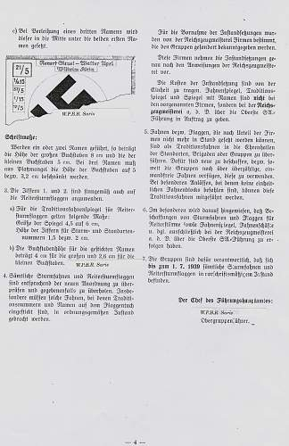 1938 order for SA-flags, unit-numbers, special devices, traditions-numbers and names