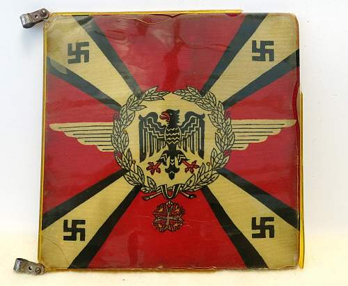"""Click image for larger version.  Name:Hermann Göring Early """"Commander-In-Chief car pennant 001.jpg Views:756 Size:225.2 KB ID:777794"""