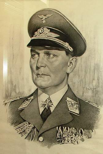 """Early Hermann Göring Early """"Commander-In-Chief""""- vehcile pennant"""