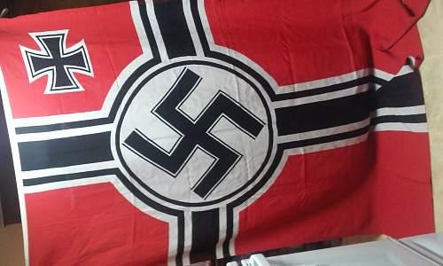 kriegsmarine flag offered