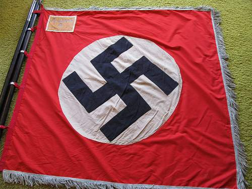 Click image for larger version.  Name:WW2 NAZI PARTY PARADE FLAG 1-2.jpg Views:501 Size:225.9 KB ID:787506