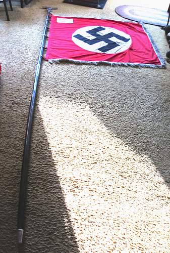 Click image for larger version.  Name:WW2 NAZI PARTY PARADE FLAG 1-19.jpg Views:46 Size:250.1 KB ID:787534