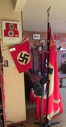 Need help iding my circa 1938 Nazi Ansbach/4 Parade Flag