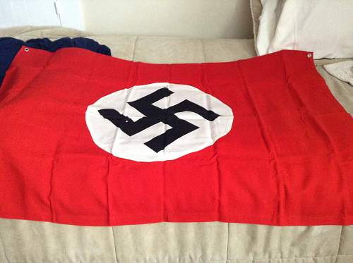 German WW2 vehicle flag, real or fake?