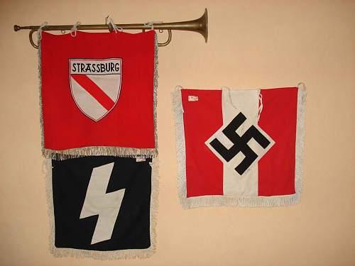 HJ DJ trumpet banners