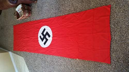 NSDAP window/wall banner