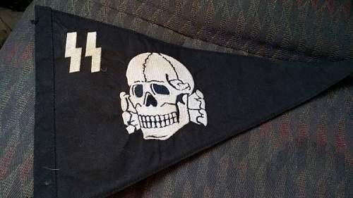 Fake SS vehicle pennant?