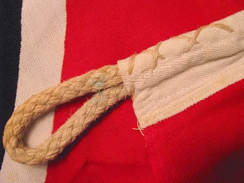 """Reichskriegsflagge """"LOH KR-FL 100 x 170"""" question (unusual or not?)"""