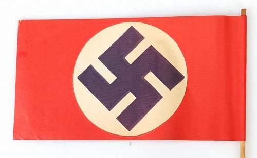 """""""NSDAP hand held parade flag"""""""