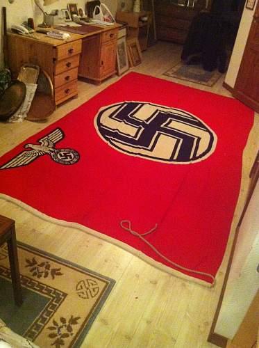 1943 dated nazi kriegsmarine flag