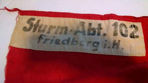 Extremely early NSDAP flag. .....original?